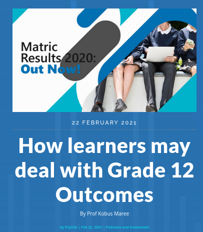 How learners may deal with Grade 12 Outcomes By Prof Kobus Maree